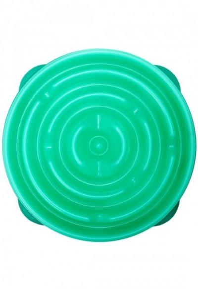 Habzsolásgátló etetőtál - zöld labirintus