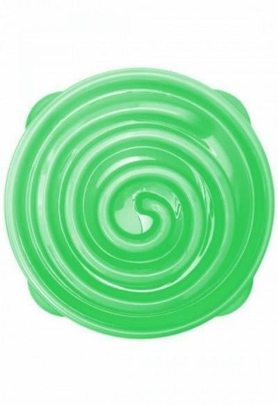 Habzsolásgátló etetőtál - zöld csiga