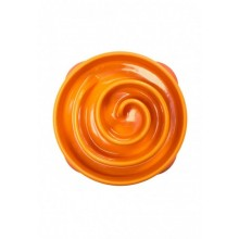 Slow Feeder Bowl Orange Spiral small